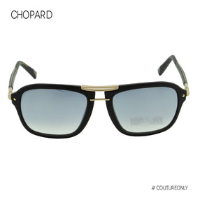 Chopard SCH-C99-300X Men Racing Sunglasses Black & Gold Frame Carbon Fiber Temples Navigator