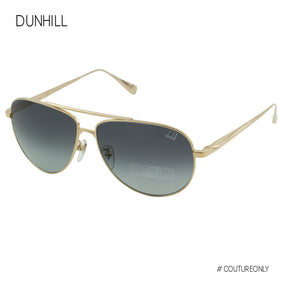Dunhill Gold Titanium Men Aviator SDH-017-300F Gray Gradient Cat 3 Non-Polarized