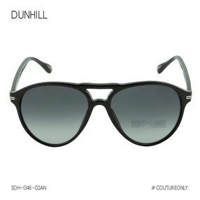 Dunhill Black Silver Men Pantos-Aviator Sunglasses SDH-048-02AN Carbon Fiber Pattern Non-Polarized
