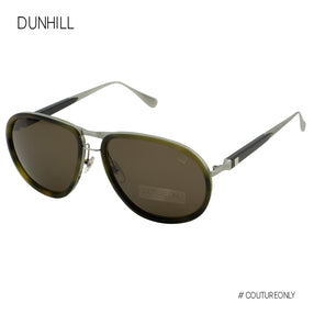 Dunhill Gunmetal Titanium Olive Tortoise Men Aviator SDH-096M-092I Cat 3 Non-Polarized Sunglasses