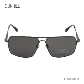 Dunhill Titanium Gunmetal Grey Men Square-Aviator SDH-136-627P Gray Cat 3 Polarized
