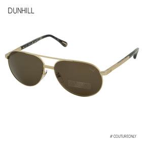 Dunhill Gold Metal Tortoise Gray Men Aviator SDH-138-08FT Brown Cat 3 Non-Polarized