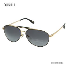 Dunhill Gold Metal Aviator Men Sunglasses SDH-190-0302 Gray Gradient Cat 3 Non-Polarized