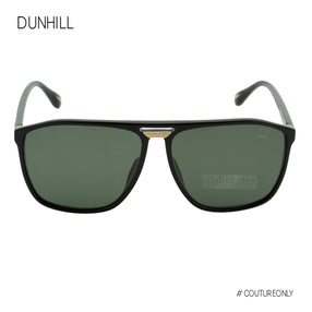 Dunhill Black Gold Square-Aviator Men Sunglasses SDH-197M-700P Green Lens 3P Polarized