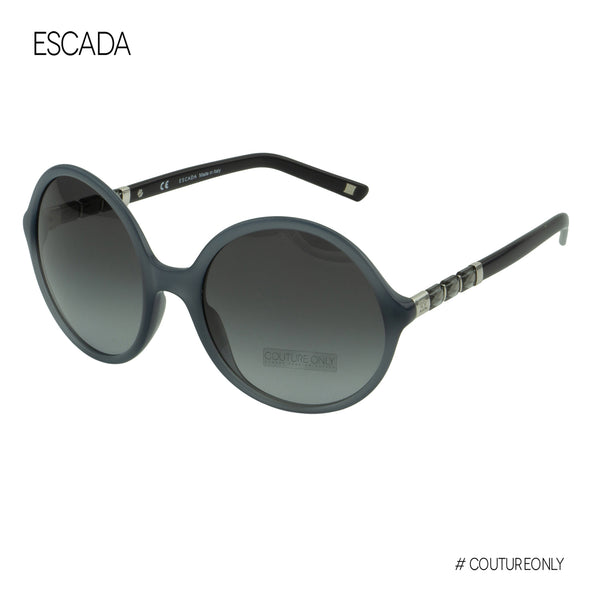 Escada  Italy SES 399 Women Gray Clear Swarovski Embellished Round Sunglasses