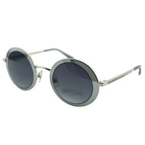 Swarovski SK0199 16B Moselle Mask Women Gradient Gray & Silver Clear Crystal Embelished Mirrored Round Sunglasses 57mm