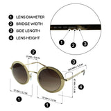 Swarovski SK0199 32F Moselle Mask Women Gold & Gradient Brown Champagne Crystal Embelished Round Sunglasses 57mm