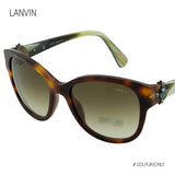 Lanvin  Paris SLN 596S Rounded Cat-Eye Antique Pearl Embellished Sunglasses