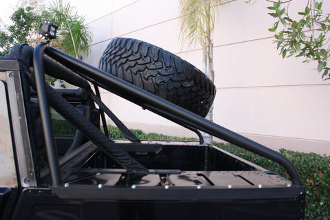 Hummercore Hummer H1 Slant Back Tire Carrier - For Soft Top Truck