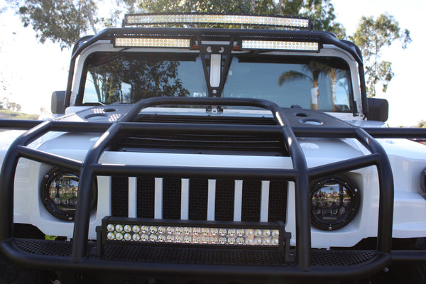 hummer h1 d ring brush guard hummercore. Black Bedroom Furniture Sets. Home Design Ideas