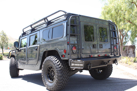 "Hummercore Hummer H1 Ladder For Stock Rear Bumper Left & Right  Side with 2"" Lift Including Alpha"