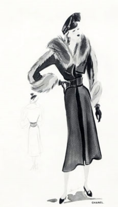 Drawing Chanel - The Fashion Illustrators from 1915 through the 1930's