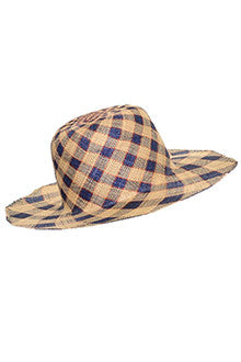 1960s Therese Ahrens Straw Plaid Hat