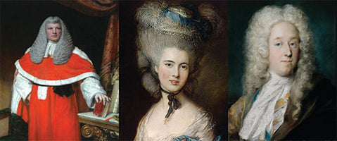 16th and 17th Century Powdered Wigs and Hair Pieces