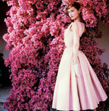 Audrey Hepburn pink sun dress flowers