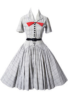 Black and White Plaid Vintage Dress by Charles Cooper