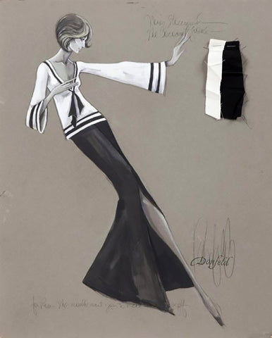 Barbara Streisand Coconut Grove Donfeld Fashion Illustration