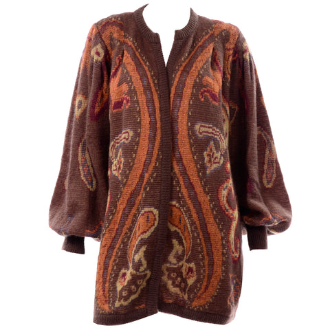 Vintage Escada Brown Paisley oversized Sweater