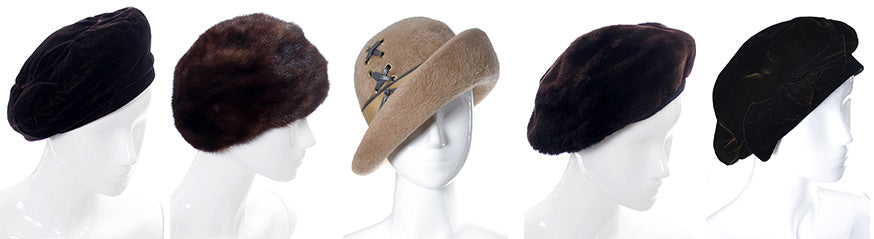 Vintage Fur and Velvet Hats