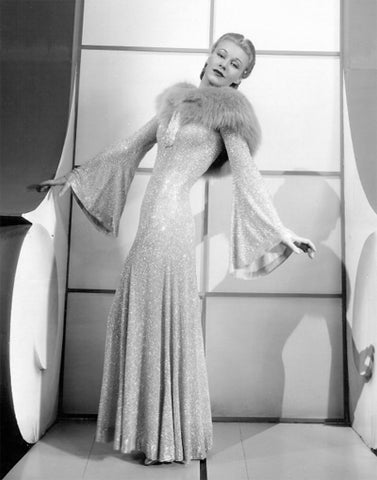 Ginger Rogers in Bernard Newman Dress