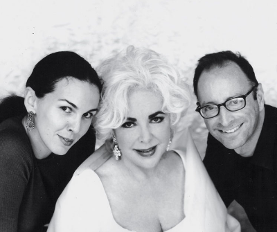 L'Wren Scott with Elizabeth Taylor and photographer Herb Ritts.-  White Diamonds Campaign.