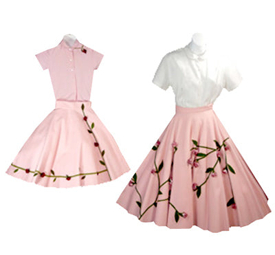 Vintage 1950's Mommy and Me circle skirt outfits at Dressingvintage.com