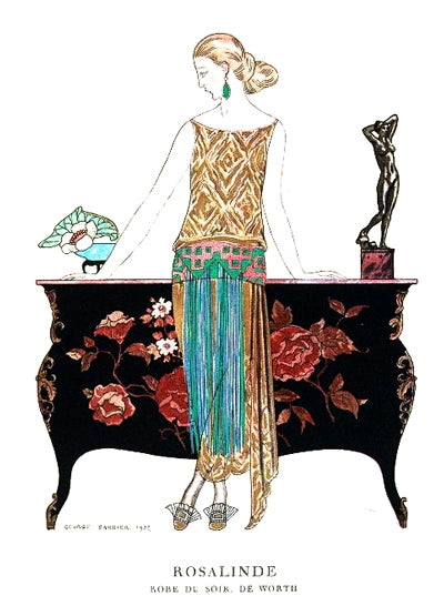 Rosalinde George Barbier illustration of Worth fashion