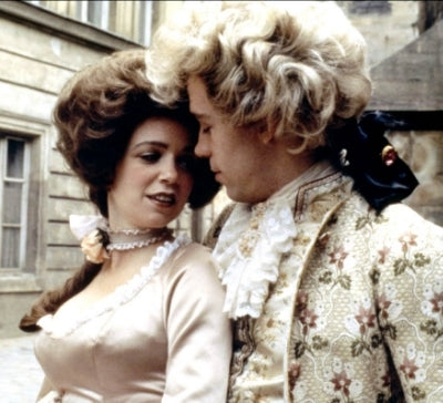 Elizabeth Berridge and Tom Hulce in Amadeus for which Theodor Pistek won an award for Best Costume Design