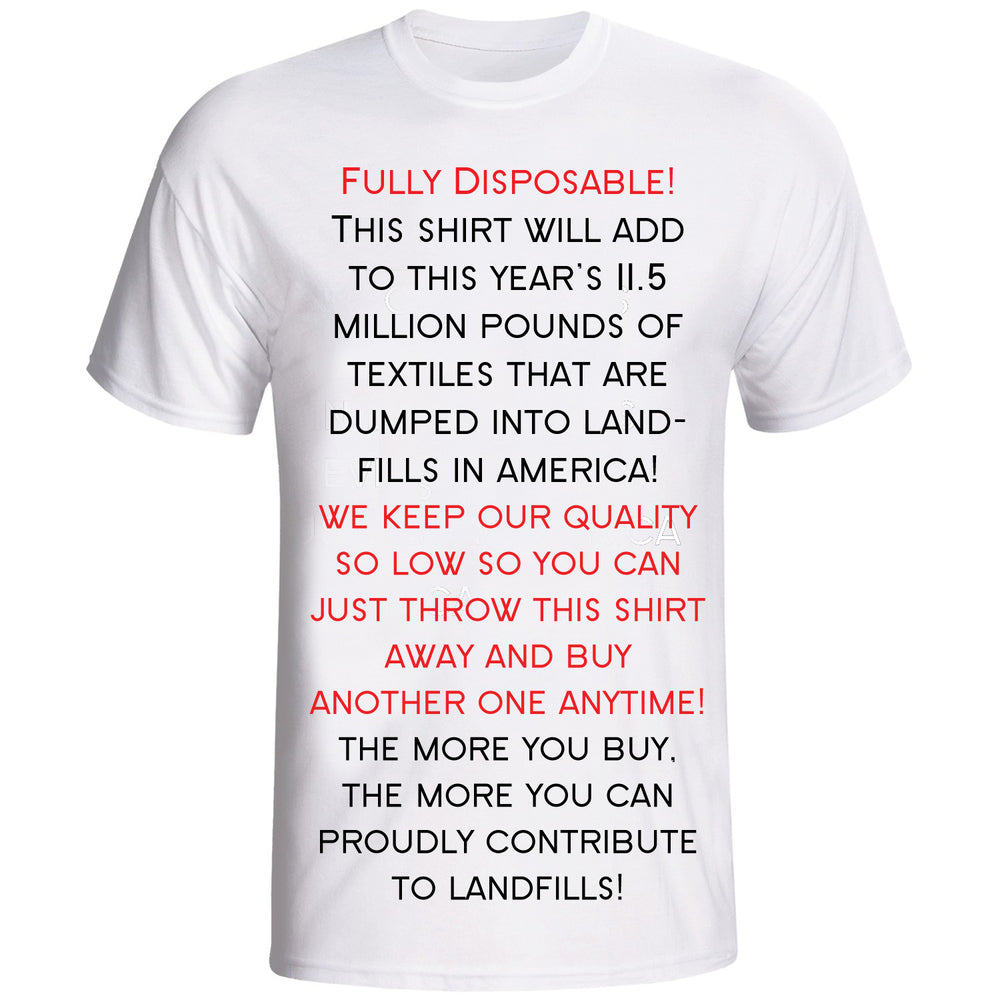 11.5 million punds of Textiles are dumped into landfills in the US annually