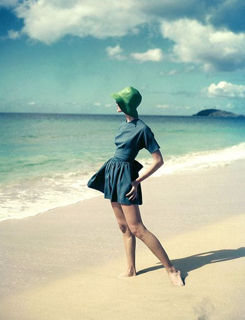 1950s beach playsuit photographed by Tom Palumbo for Junior Bazaar