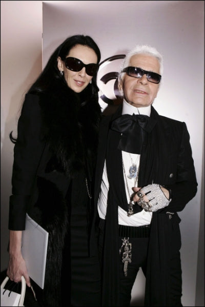 Karl Lagerfeld with L'Wren Scott