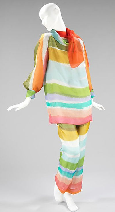 Givenchy 1970 Hostess Pajamas - MET Costume Institute