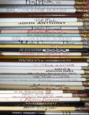 Vintage fashion designer Pencils
