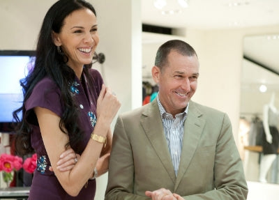 L'Wren Scott with Mark Lee, CEO of Barney's New York