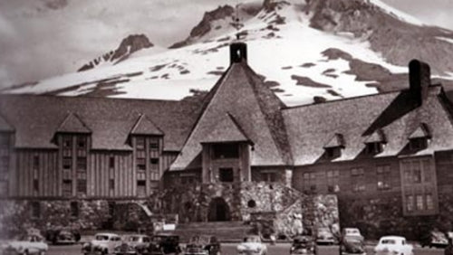 Timberline Lodge, Mt. Hood Oregon in the 1930s.