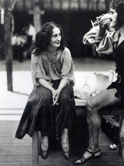 Anna Pavlova on set of the movie The Dumb Girl of Portici (1916)