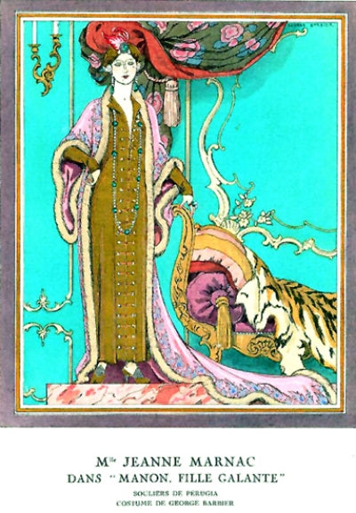 Jeanne Marnac theatrical costume - Georges Barbier