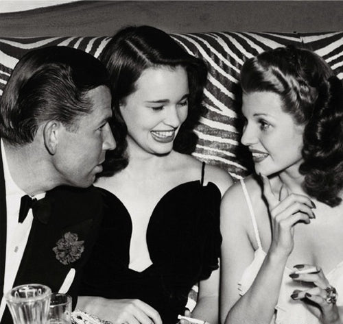 Gloria Vanderbilt and Rita Hayworth