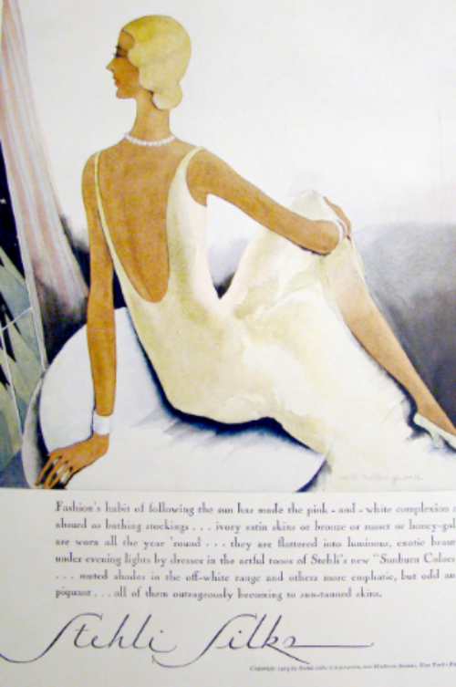 Stehli Silks vintage advertisement 1929