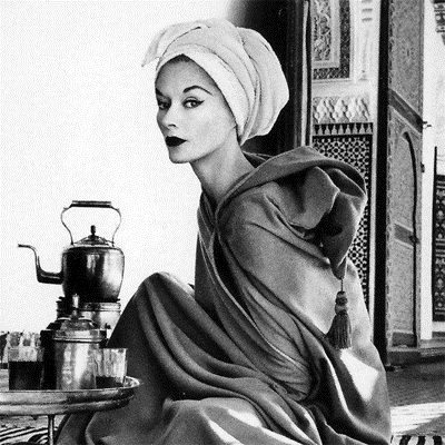This Irving Penn 1951  photograph taken in Marrakesh of Lisa Fonssagrives-Penn titled; Woman in Moroccan Palace