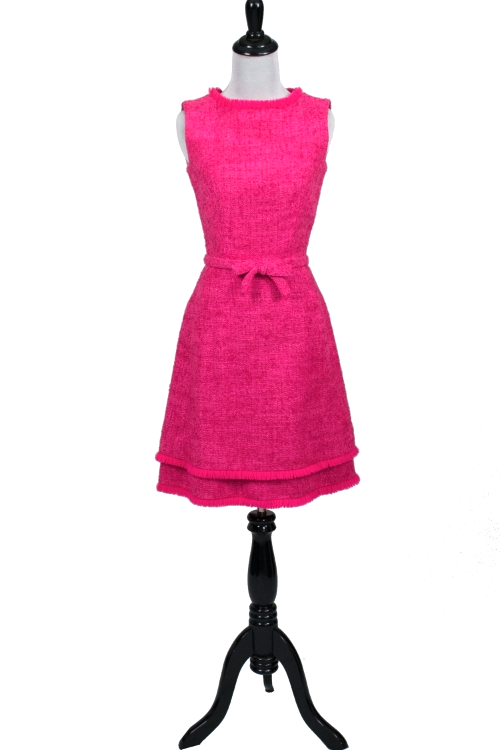 Lanz of Salzburg vintage hot pink 1960's dress