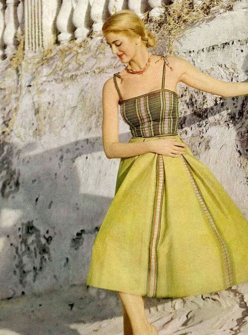 Vogue 1951 Tina Leser vintage summer beach ensemble