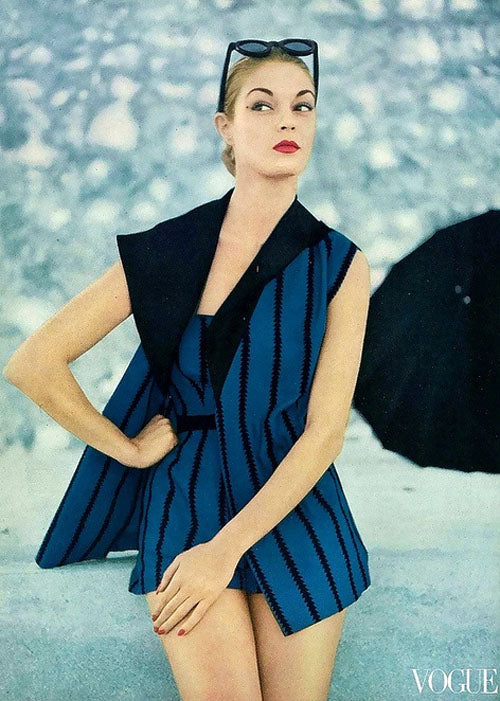 Jean Patchett in a playsuit from Vogue 1951