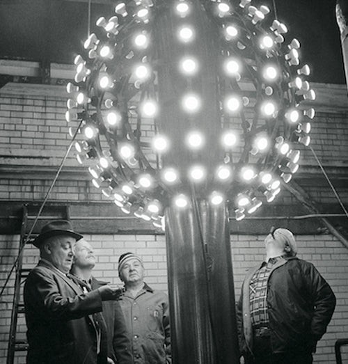 The first ball dropped in Times Square