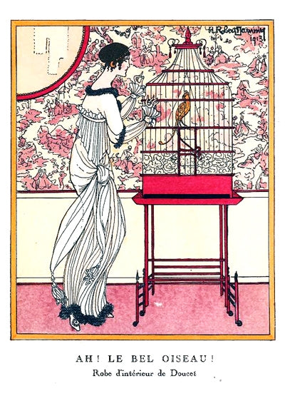 Ah! Le Bel Oiseau! Doucet fashion plate IX from Gazette du Bon Ton, Volume 2, No. 12 By H. Robert Dammy