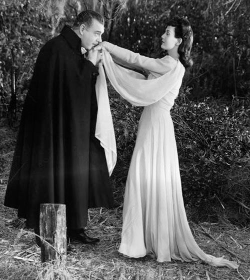 Lon Chaney and Louise Albritton Son of Dracula 1943