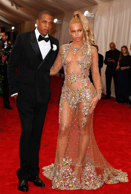 Jay Z and Beyonce (in Givenchy dress) at the 2015 MET costume institute gala