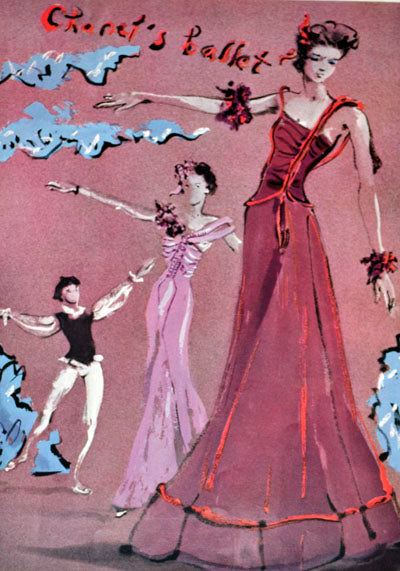 Carl Erickson Vogue 1938 - Chanel dresses