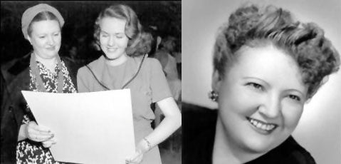 Left - Vera West with actress Deanna Durbin and right - Vera West