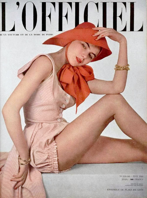 Gres playsuit June 1950 l'Officiel Paris